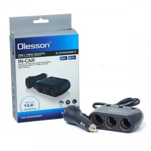 Разветвитель прикуривателя Olesson 1518 USB 12V/24V