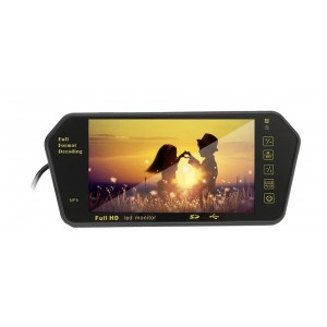 """Монитор-зеркало для камеры заднего вида 7"""" LCD+BT Сенсорный экран"""