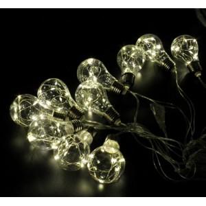 Гірлянда Едісона (гірлянда з лампочок) 10 LED 2M, теплий білий, з з'єднувач WW-7281
