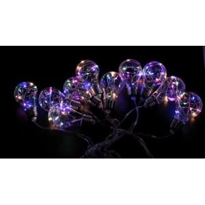 Гірлянда Едісона (гірлянда з лампочок) RGB, 10 LED, 2 м, з з'єднувачем RGB-7280
