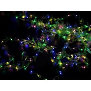 Гірлянда Штора листя плакучої верби на мідному дроті (Xmas гірлянд Copper curtain lamp) Led 200, RGB, 3M * 1M RGB-7269