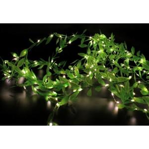 Гірлянда Штора листя плакучої верби на мідному дроті Xmas Copper curtain lamp Led 200, теплий білий, 3M * 1M WW-7270