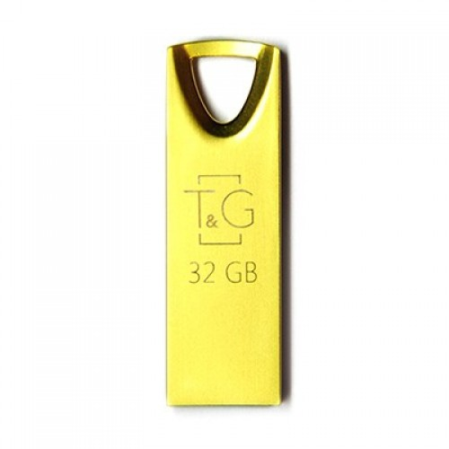 Флешка usb flash 32GB T&G 117 Metal series Gold