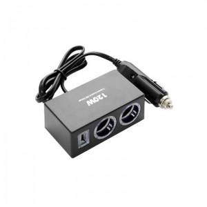 Автомобильное зарядное устройство для разветвителя  Olesson 1522 USB 12V/24V