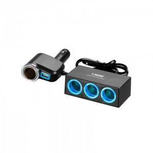 Автомобильное зарядное устройство для разветвителя  Olesson 1527 USB 12V/24V