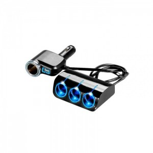 Автомобильное зарядное устройство для разветвителя  Olesson 1528 USB 12V/24V