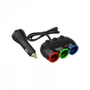 Автомобильное зарядное устройство для разветвителя  Olesson 1633 USB 12V/24V