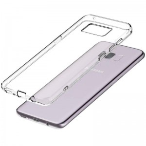 Силиконовая накладка прозрачная Samsung S8
