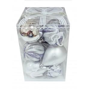 """Набор елочных игрушек """"Silver mix"""", 14 шт (цена за упаковку)"""