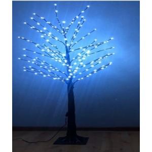 """Новогоднее декоративное светящееся дерево """"Береза"""" 160 см, синий, Led 96, IP 46"""