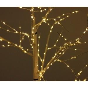 """Новогоднее декоративное светящееся дерево """"Береза"""" 160 см, теплый белый, Led 96, IP 47"""