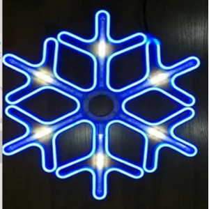 """Светящаяся фигура """"Снежинка"""" большая (Meteor shower snowflake large)"""