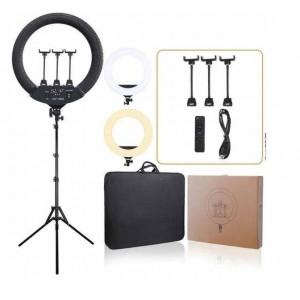 Кольцевая LED лампа SLP-G500 (3крепл.тел.) с пультом 220 v 45 см