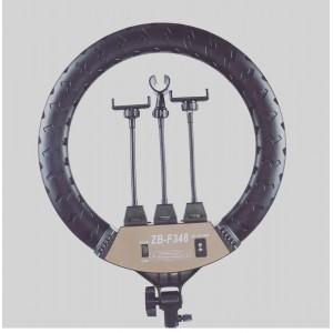 Кольцевая LED лампа F348 (3 крепл.тел.) с пультом 220v 45см