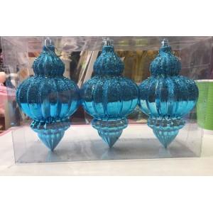 """Елочная игрушка """"Голубой иний"""", 17 см  (цена за упаковку)"""
