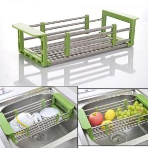 Многофункциональная складная сушилка для посуды на раковину