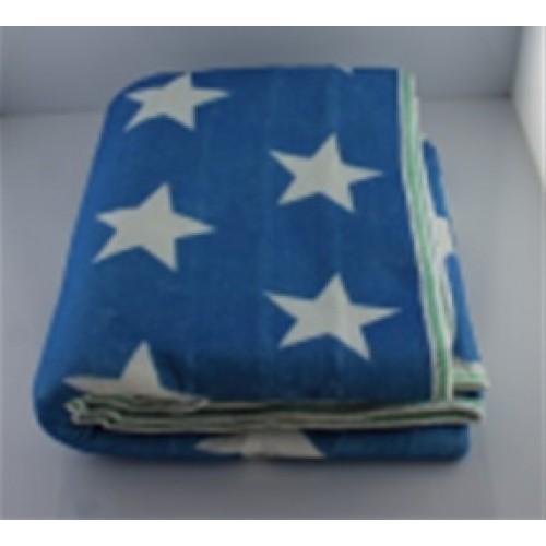 Электропростынь с сумкой electric blanket 150*120 белая звезда на синем фоне