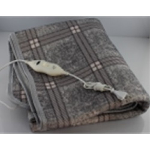 Электропростынь с сумкой electric blanket 150*170 клечитый серый