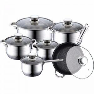 Кухонный набор кастрюль + сковорода и  ковш RB-601