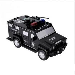 """Детский сейф-копилка с кодовым замком и отпечатком пальца """"Полицейская машина"""""""