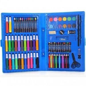 Набор для детского творчества голубой 86 предметов