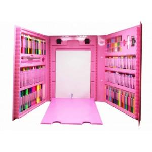 Набір для дитячої творчості у чемодані 208 предметів (рожевий)