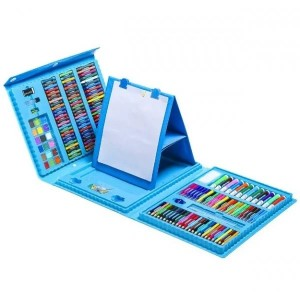 Набор СИНИЙ для детского творчества в чемодане из 208 предметов (10)