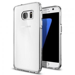 Силиконовая накладка прозрачная Samsung S7