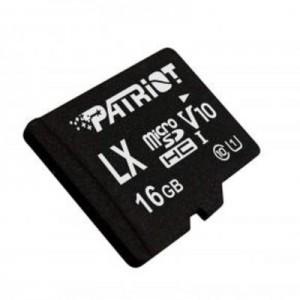 microSDHC (UHS-1 U1) Patriot LX Series 16Gb class 10 V10 (R-90MB/s, W-40MB/s) (adapter SD)