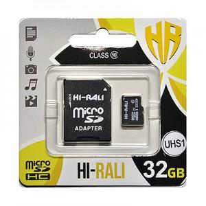 micro SDHC (UHS-1) карта памяти HI-RALI  32GB class 10 (с адаптером)