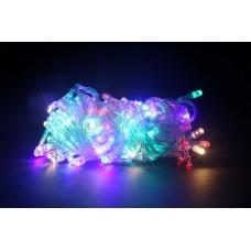 Гирлянда LED 100 RGB, прозрачный провод