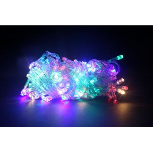 Гирлянда светодиодная LED 100 Led RGB прозрачный провод
