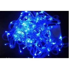 Гирлянда LED 100 голубая, прозрачный провод