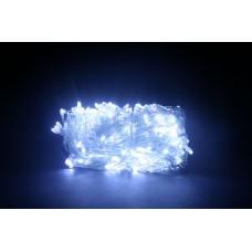 Гирлянда LED 200 белая, прозрачный провод