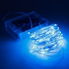 Гирлянда Роса от батареек 3/AA LED 50 синий 5 метров