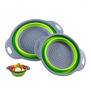 Друшлаг силиконовый складной большой + маленький Collapsible filter baskets (100)