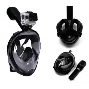 Маска S/M ЧЕРНАЯ для подводного плавания, маска для снорклинга Easybreath Tribord (10)