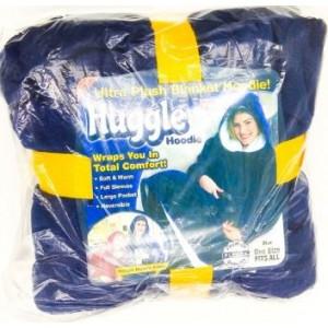 Плед Huggle СИНИЙ Ultra Plush Blanket Hoodie № G09-45 (20шт/ящ)