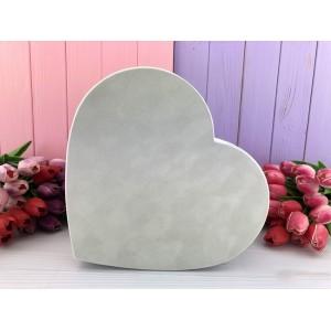 "Бархатная коробка в форме сердца ""Velvet"" бежевая 3 шт."