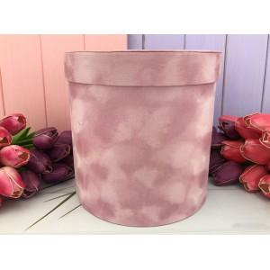 """Бархатная круглая коробка """"Velvet"""" розовая 3 шт."""