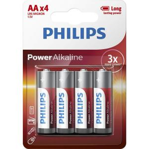 Батарейка Philips Power Alkaline AA BLI 4