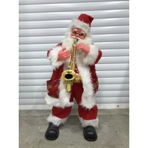 Дед-Мороз с саксофоном маленький музыкальный