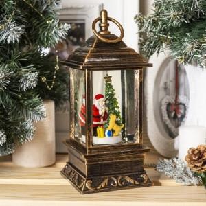 Декоративный новогодний фонарик Дед мороз