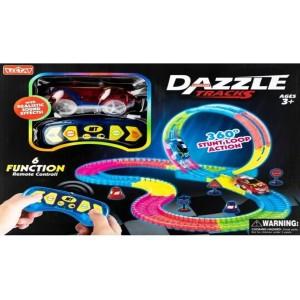 Детский трек для машинок DAZZLE TRACKS 187 деталей
