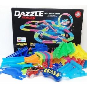 Детский трек для машинок DAZZLE TRACKS 326 деталей