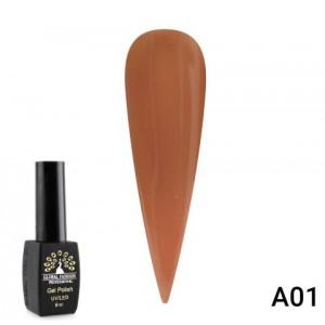 Гель лак Chestnut 8 мл серия A, A01