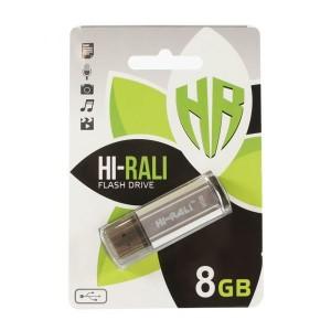 Флешка usb flash Hi-Rali 8GB Stark series Silver
