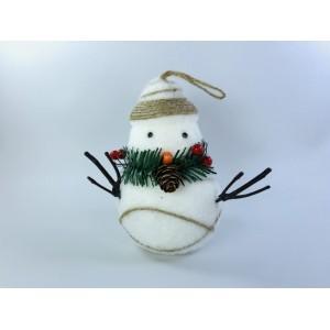 """Игрушка """"Снеговик с полосатой шапкой"""""""