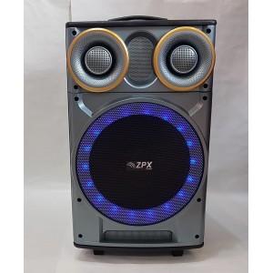 Колонка аккумуляторная с микрофоном ZPX AUDIO 7777 120W (Bluetooth/USB/FM)