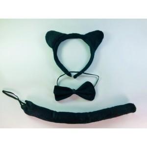 Комплект кошки черный 3 в 1
